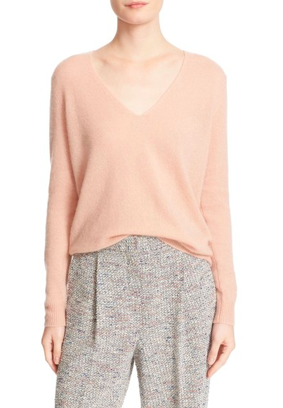 Theory sweater — pale pink