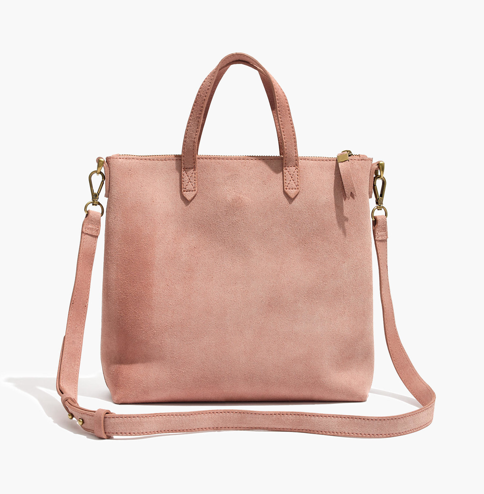 Madewell transport tote — pale pink