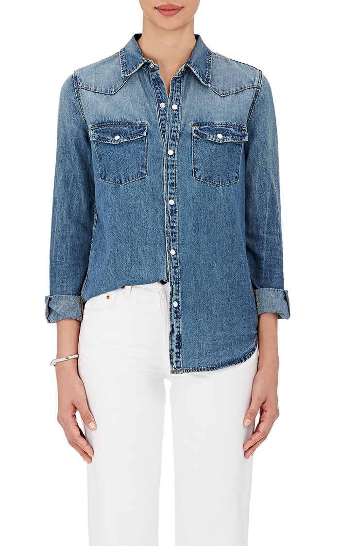 Grlfrnd denim shirt—Wardrobe classics: the denim shirt