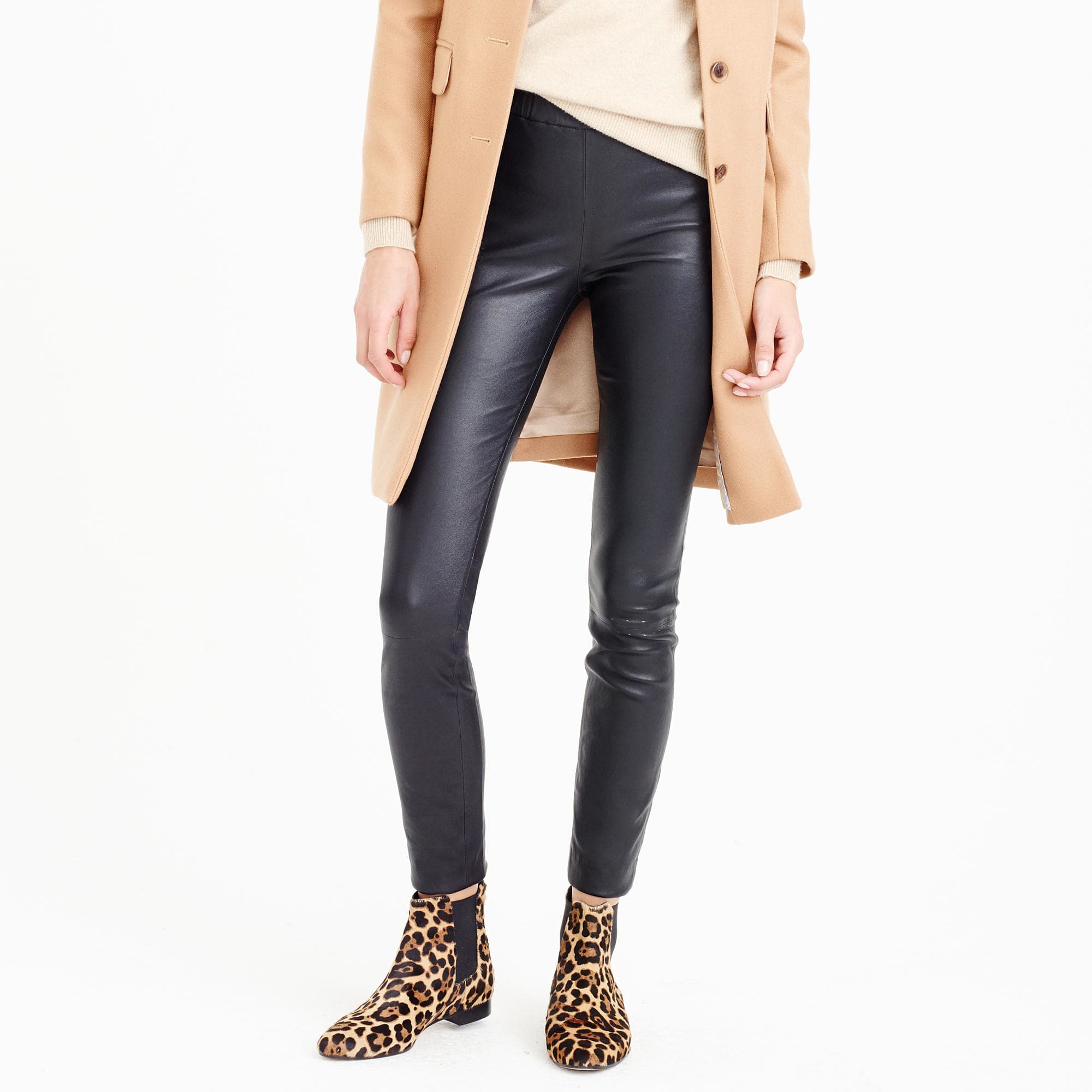 J Crew leather leggings