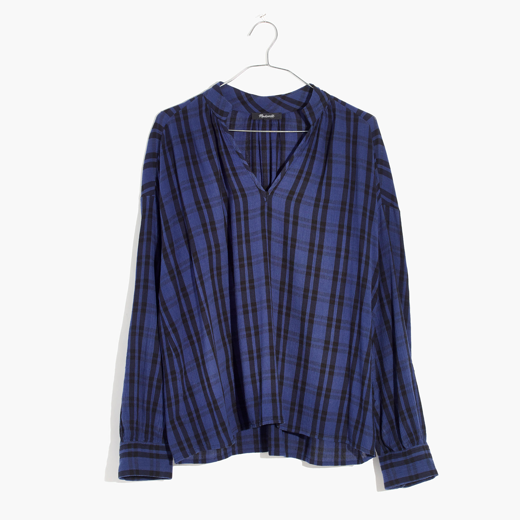 madewell plaid popover