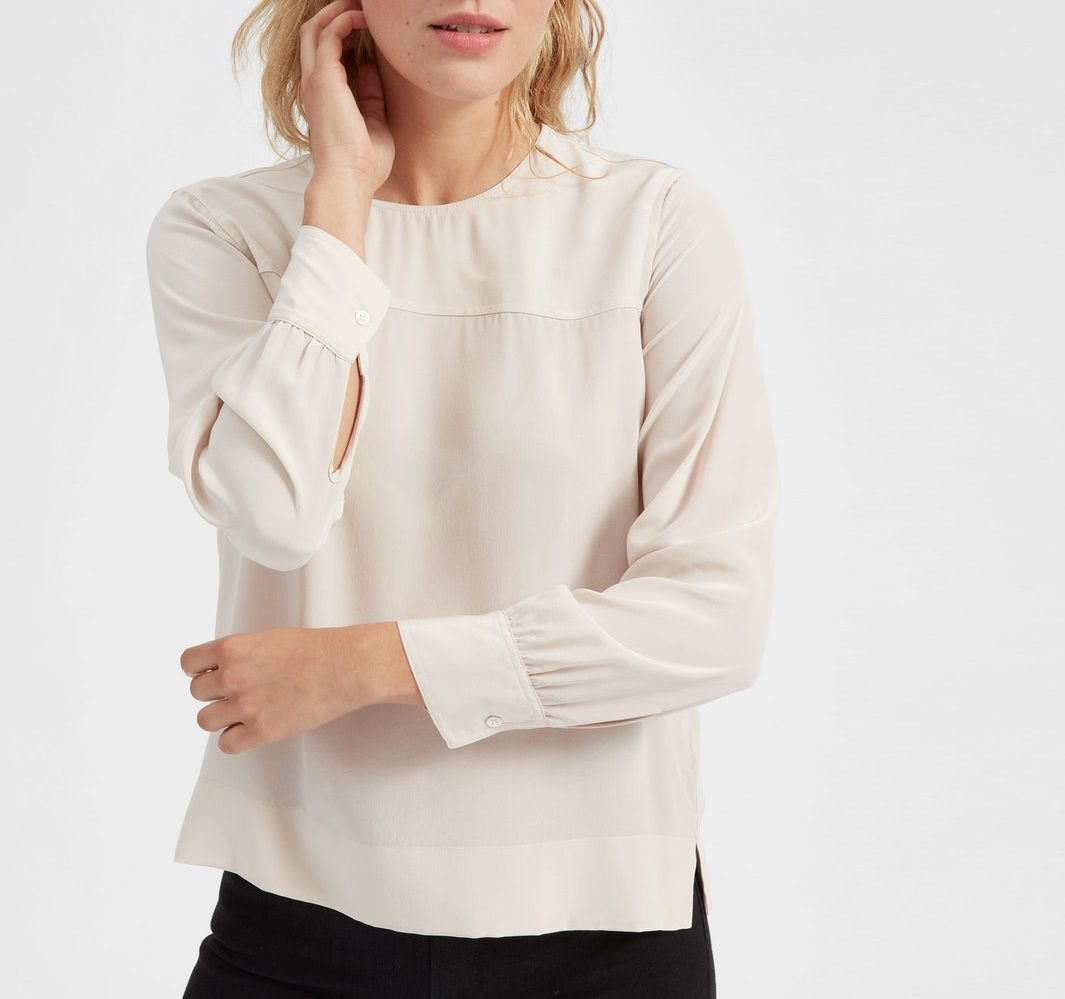 everlane silk top